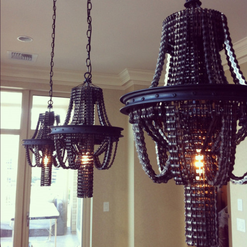 laughingsquid:  Salvaged Bicycle Chain Chandeliers by Carolina Fontoura Alzaga