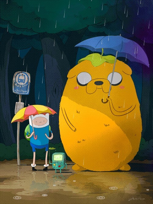 danceabletragedy:  Adventure Time Totoro