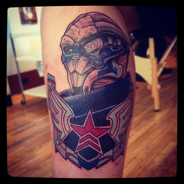 noxfaye:  My name is Garrus Vakarian and this is my favorite tattoo on the citadel.