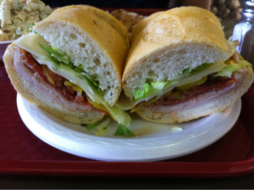 """Penn Station"" sandwich from Fino's! AMAZING."