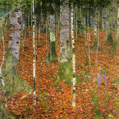 Gustav Klimt- Farmhouse with Birch Trees (1903)