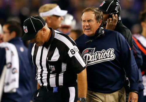 NFL fines Bill Belichick $50,000 for grabbing official