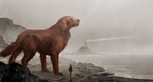 tumblingwhovian:  stormcloak:  Clifford the big red dog by *sandara  -Weeps-