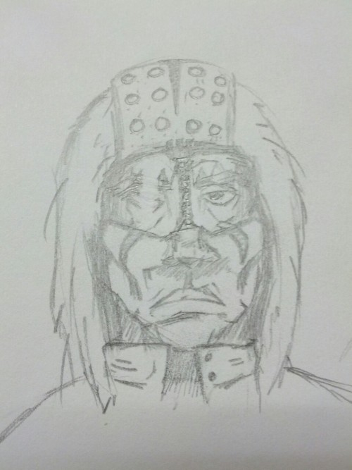 Quick sketch to brainstorm a character.