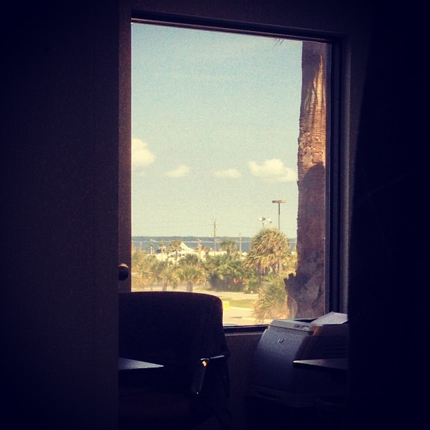 View from the office. I made an appearance today.  (Taken with Instagram at Islanders Surf & Sport)