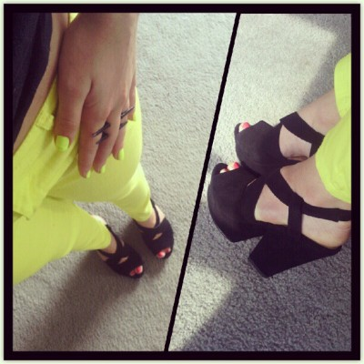 Feeling #neon today. #ootd (Taken with Instagram)