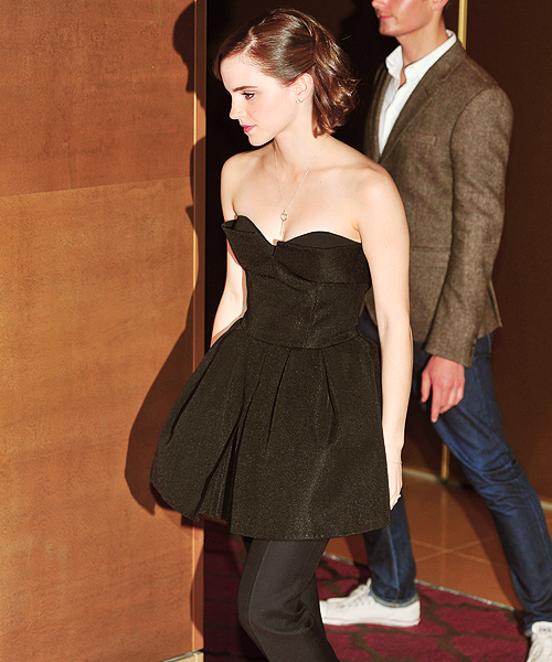 Emma Watson attends a special screening of 'The Perks of Being The Wallflower' at The May Fair Hotel on September 26, 2012 in London, England.