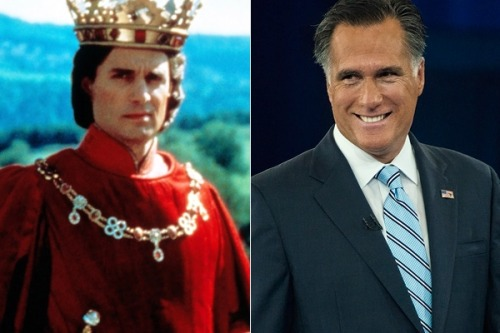 "cognitivedissonance:  wilwheaton:  Romney is an almost perfect amalgam of all the great out-of-touch douchebags of our national cinema: he's Gregg Marmalaard from Animal House mixed with Billy Zane's sneering, tux-wearing Cal character in Titanic to pussy-ass Prince Humperdinck to Roy Stalin to Gordon Gekko (he's literally Gordon Gekko). He's everything we've been trained to despise, the guy who had everything handed to him, doesn't fight his own battles and insists there's only room in the lifeboat for himself – and yet the Democrats, for some reason, have had terrible trouble beating him in a popularity contest. The fact that Barack Obama needed a Himalayan mountain range of cash and some rather extreme last-minute incompetence on Romney's part to pull safely ahead in this race is what really speaks to the brokenness of this system. Bruni of the Times is right that the process scares away qualified candidates who could have given Obama a better run for all that money. But what he misses is that the brutal campaign process, with its two years of nearly constant media abuse and ""gotcha"" watch-dogging, serves mainly to select out any candidate who is considered anything like a threat to the corrupt political establishment – and that selection process is the only thing that has kept this race close. (via This Presidential Race Should Never Have Been This Close 