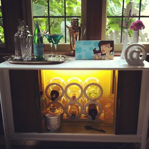 cocktaildeeva:  My FABOOSH NEW BAR thanks to Fab @leighannallaire & @habitattoronto #upcycle (Taken with Instagram)