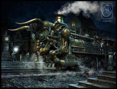 Steam Bull (Legendary photo) by Dmitriy Filippov