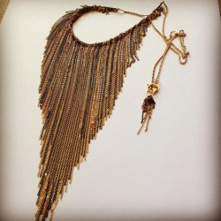 😍14kt & #blackenedsilver #chain #fringe #necklace 🎉 by #ashleychilds #jewelryoftheday 🌐(www.ashleychilds.etsy.com) #love! #deluxe #sensual #jewelrytodiefor  (Taken with Instagram)