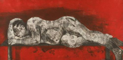 William Kentridge (born 1955): Sleeper – Red, 1997