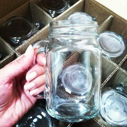 My mason jar mugs from @jossandmain arrived! how cute are they? #love #masonjars (Taken with Instagram)