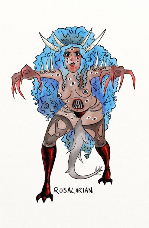 "True Monster (30 Day Monster Girl (Burlesque) Challenge  Day 11) Back in the saddle with the monster girl burlesque. Day 11 is ""true monster"" which nobody seems to know how to interpret. The more open things are, the more afraid and vulnerable I feel, naked and cold, whimpering to myself and slowly rocking back and forth. So, I guess eyeballs and claws and horns. This monster lady will eat your soul, but only if she can see you."