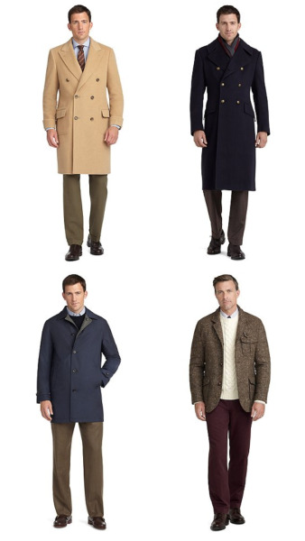 acutestyle:  Brooks Brothers F/W 2012 Outerwear Polo Coat, Officer Coat, Reversible Coat, Hybrid Coat My favs.    That Hybrid Coat though.