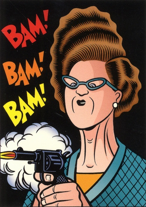 Via The Goon Squad Art Card Set by Charles Burns (1992)