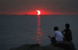 A sunset eclipse