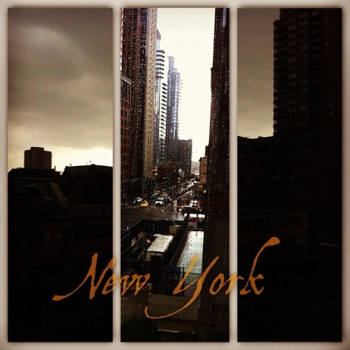 New York During Autumn #instagood #fall #autumn #clouds #rain #sky #storm #stormy #skyscraper #silhouette #street #instacollage #newyork #nyc #mywestsidestory (Taken with Instagram)