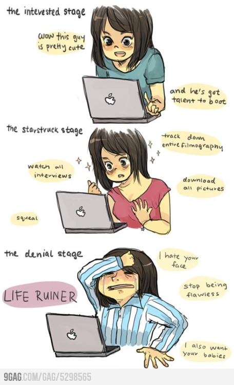 hcscarlett:  Found this online last night, this is literally the stages of my life. I am currently in the final stage where I realize that Harry Styles has sufficiently ruined my life and I'm dying…