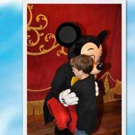 Dimitri finally got to give Mickey a hug during his wish trip to Disney World!