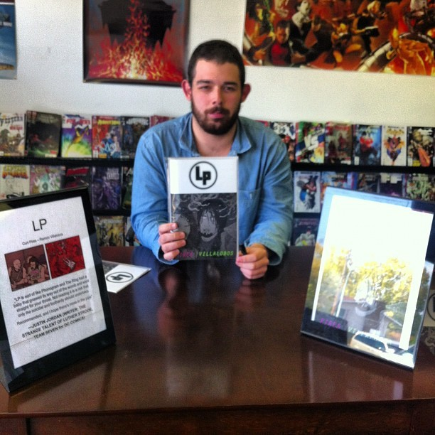 LP signing at Alpha Comics with @curtpires (Taken with Instagram)