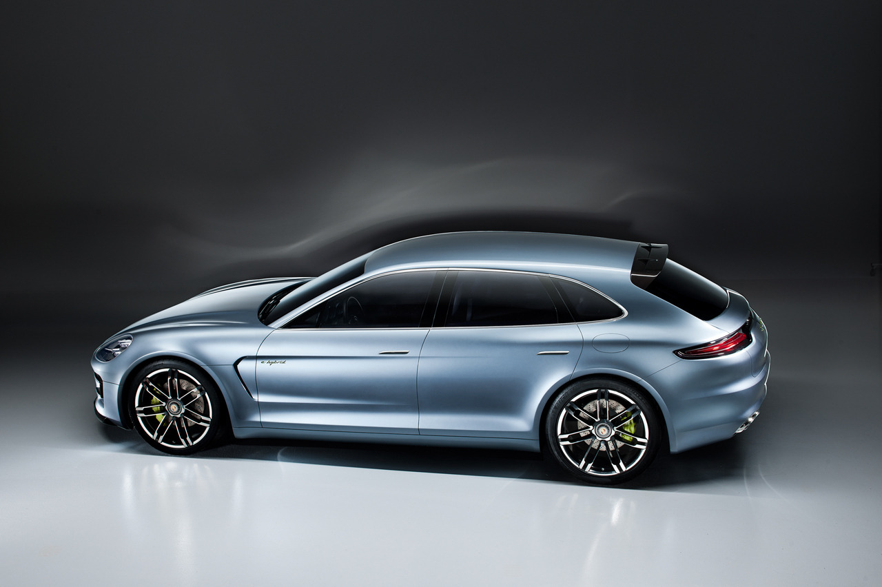 """Porsche Panamera wagon concept is real, looks better than five-door [UPDATE]"" With the 2012 Paris Motor Show kicking off tomorrow, Porsche has already dropped what could be the biggest bombshell of the show with this Porsche Panamera Sport Turismo Concept.  Aside from giving the polarizing Panamera five door hatchback much sexier lines, this long-rumored cargo-friendly concept obviously has the Mercedes-Benz CLS Shooting Brake dead in its sights.Judging by these leaked pictures, the Panamera Sport Turismo Concept is somewhat of a hodgepodge of current Porsche models, looking like a chopped Cayenne with headlights similar to those of the new Boxster and taillamps derived from the 911.  While the rump of the current Panamera is, by far, the car's most controversial design element, the Sport Turismo Concept puts that all to sleep finishing off this car with an exclamation point. This concept car probably also foretells a refreshed face that could be on the way for the three-year-old Panamera as well as an updated cabin that might actually do away with the overabundance of buttons in favor of some high-tech gadgetry.We can't help but daydream about a production Panamera Sport Turismo in Turbo form, but the Concept is propelled by a plug-in hybrid powertrain wearing the ""e-Hybrid"" designation. Details are scarce about this system, but it looks like it will add a trunk-mounted battery pack and a single drive motor to the rear axle of the rear-wheel-drive V6 Panamera. ____________________ I liked the Panamera since it was first introduced but can admit its looks were uniquely different; typical words that tend to polarize opinions but had it looked like this from the get-go, I believe sales may have been more favorable."