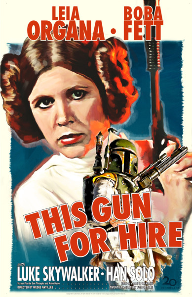 laughingsquid:  Fett Noir, Classic Noir Movie Posters Given a Star Wars Remix