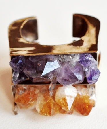 One of a kind Crystal Block Cuffs, Available at Bona Drag