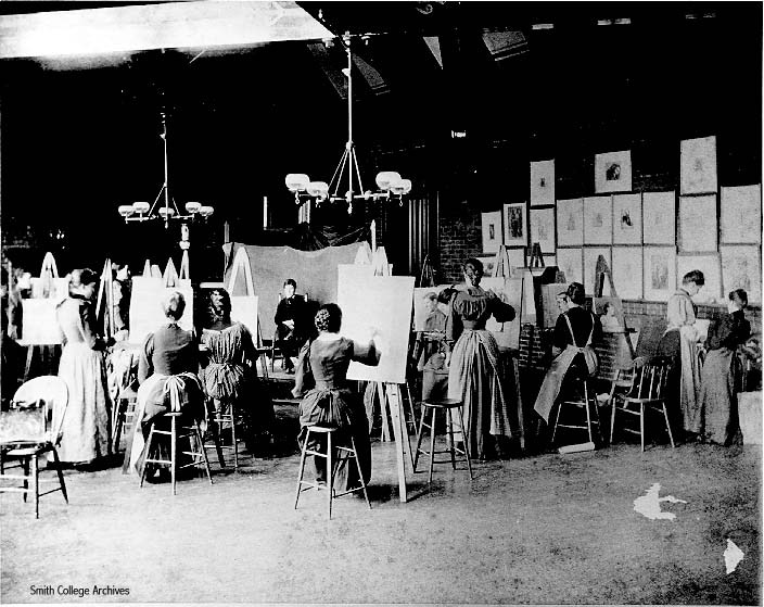 Smith College art class, 1893.