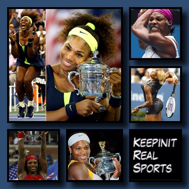 Happy Birthday: Serena Williams  September 26, 1981 - Serena Jameka Williams is a professional American tennis player. The Women's Tennis Association has ranked her World No. 1 in singles on five separate occasions. She became the World No. 1 for the first time on July 8, 2002, and regained this ranking for the fifth time on November 2, 2009. She is the only female player to have won over $40 million in prize money.  #keepinitrealsports #HappyBirthday #SerenaWilliams #American #Tennis #Sports #MysterKeepinit  (Taken with Instagram)
