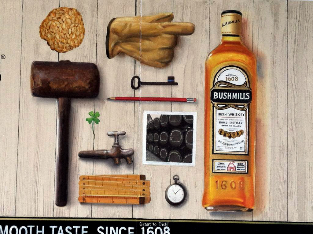 We had as much fun painting this for Bushmills as we did drinking it!