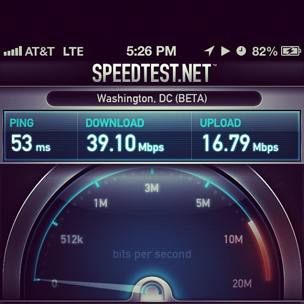 Faster the my home Internet connection.  (Taken with Instagram)