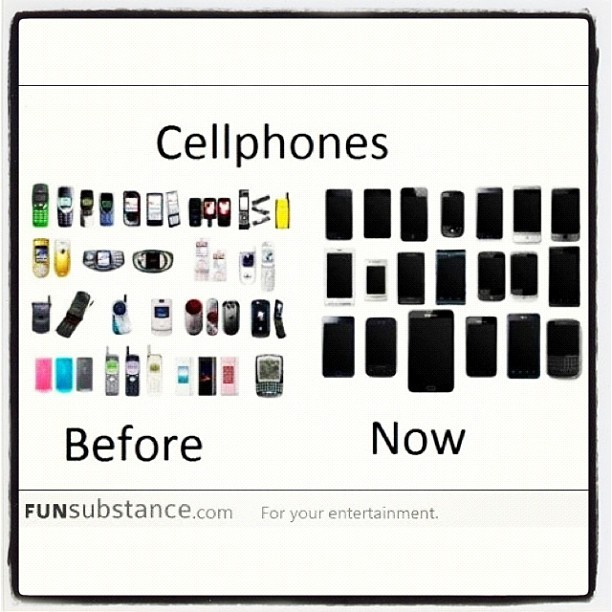 Crazii how things #change ova #time  smh  #instatags #igdaily #instagramers #iphoneonly #technology #phones  (Taken with Instagram)