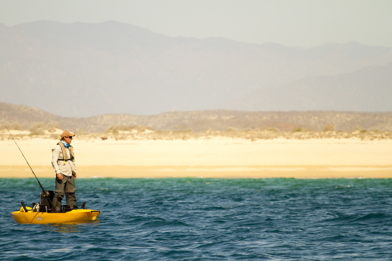 The Hobie team kayak fishing in Mexico this summer.