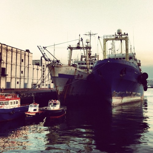 Ships (Taken with Instagram at Muelle Santa Catalina)