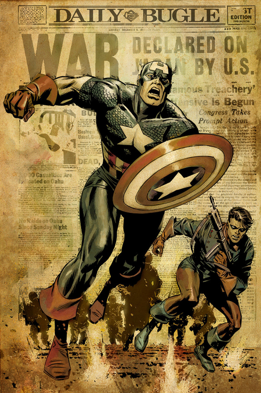 Captain America and Bucky By Butch Guice