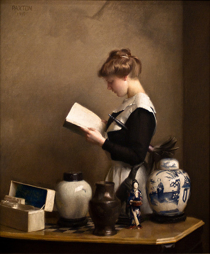 paperimages: 1910 William McGregor Paxton (American Impressionist, 1869-1941) ~ The House Maid