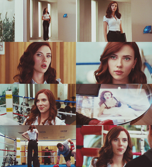 "natasha romanoff → iron man 2  ""she is from legal and she is potentially a very expensive sexual harassment lawsuit if you keep ogling her like that."""
