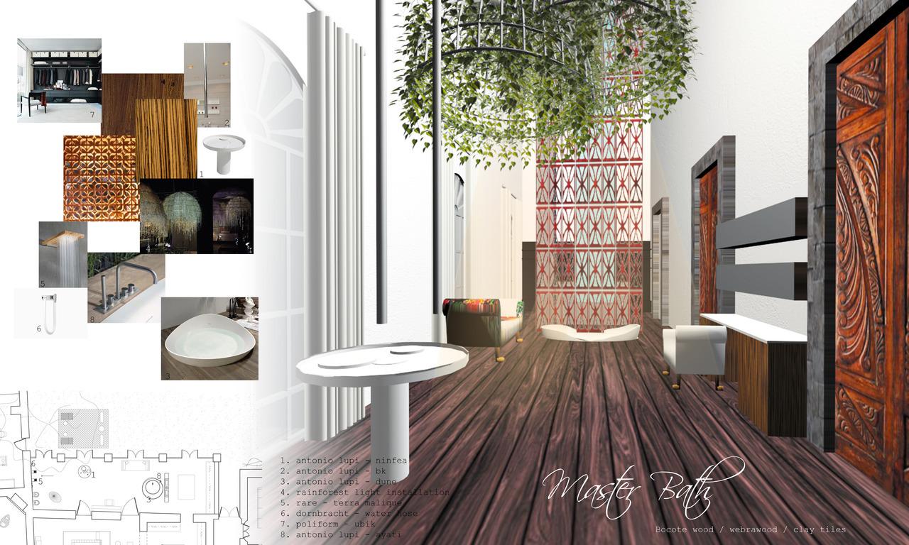 Interior portfolio layout on pinterest presentation for Bathroom design board