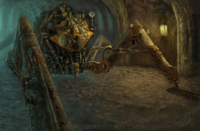 Steam Punk Spider Miner by Jared Dennis