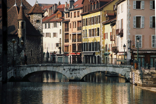 ysvoice:  | ♕ |  Canal Bridge in Annecy, France  | by © Rachel
