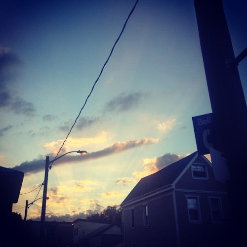 Street lights are on, time to come home (Taken with Instagram)
