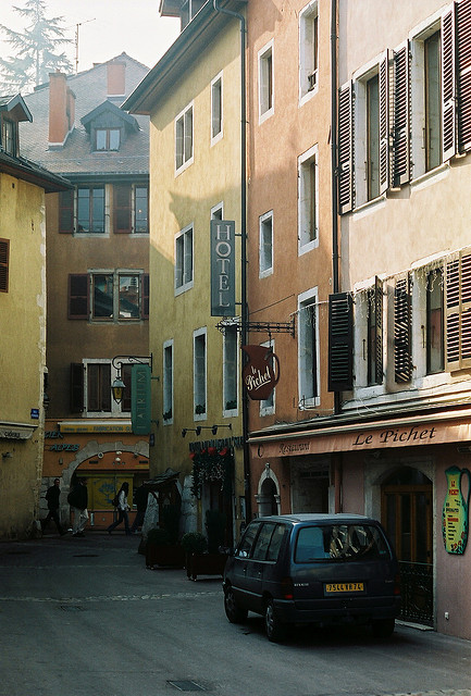 | ♕ |  Backstreet in Annecy, France  | by © Rachel
