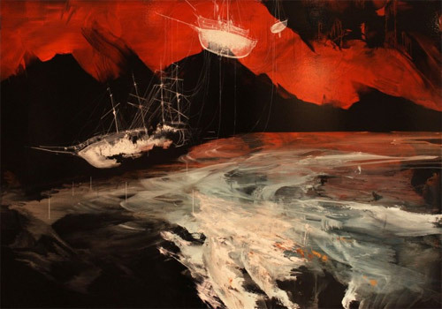Ian Francis, A wrecked ship's soul ascends, 2012