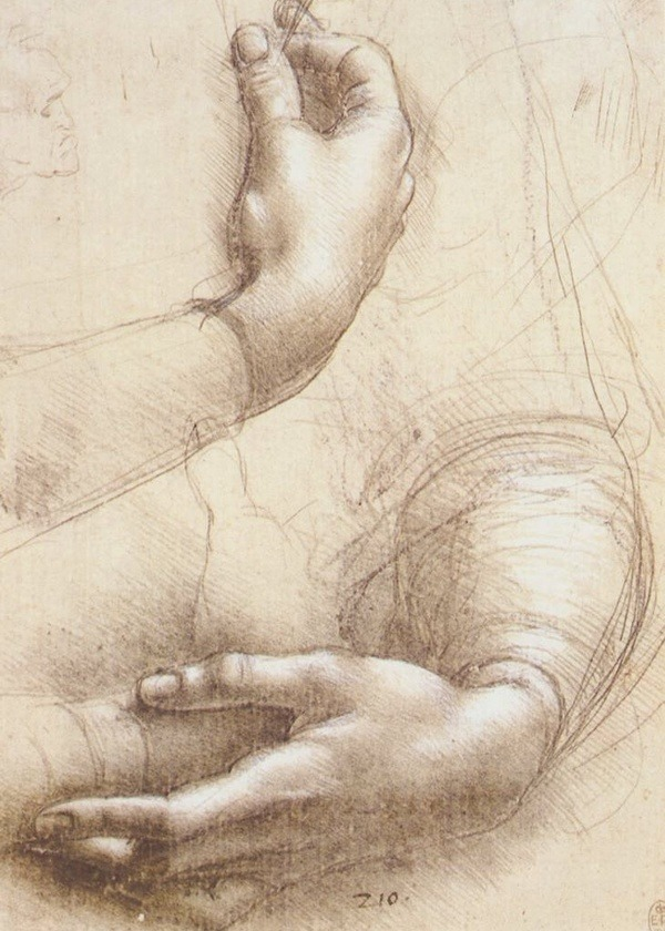 preciousandfregilethings:  Leonardo da Vinci Study of Hands, (circa 1474) by