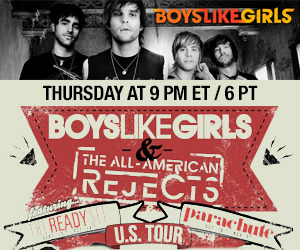 Boys Like Girls Live Stickam Chat! Boys Like Girls have been busy these past two weeks on tour with The-All American Rejects, The Ready Set, and Parachute. Before they take to the stage on Atlanta they'll be live right here on Stickam to chat with the fans!