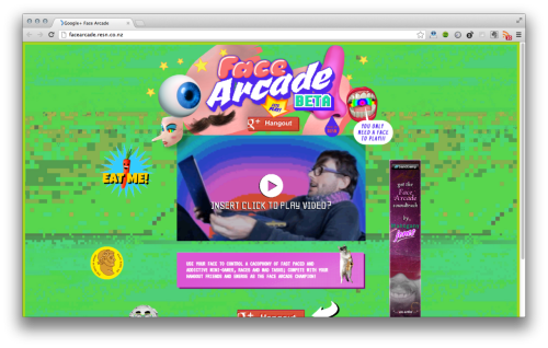 Face Arcade from Resn - crazy Google Hangout action here.