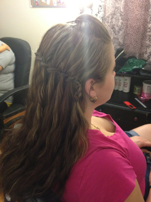 waterfall braids are my favorite. practice makes perfect.