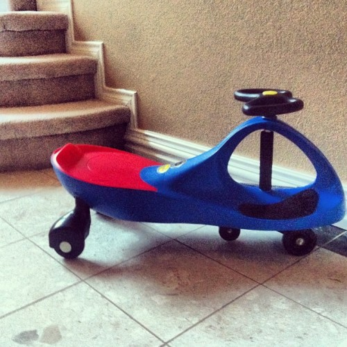 Plasma car. Freakishly sharp turn radius. Ideal for  hardwood floors.  (Taken with Instagram)