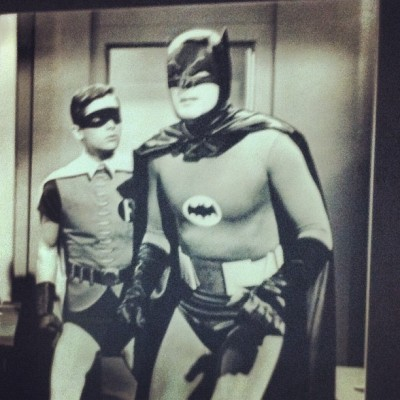 My heroes. #batman #robin #adamwest #burtward (Taken with Instagram)
